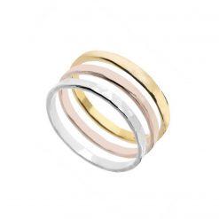 Joyas OnLine Plata de Ley 925 y Oro 18K. anillo