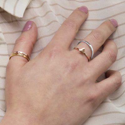 Joyas OnLine Plata de Ley 925 y Oro 18K. anillo anillos