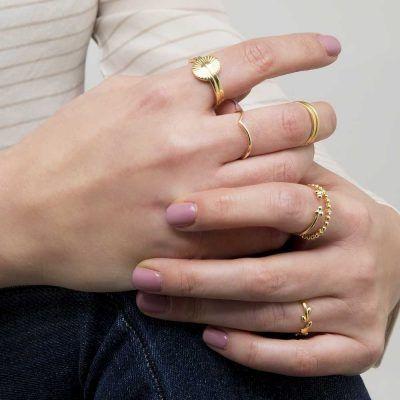 que talla de anillo uso Joyas OnLine Plata de Ley 925 y Oro 18K. anillo anillos