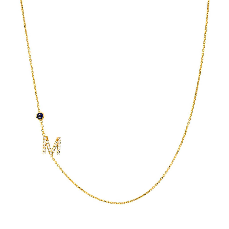 d065e5329f06 Joyas OnLine Plata de Ley 925 y Oro 18K. gargantilla collar inicial letra  nombre