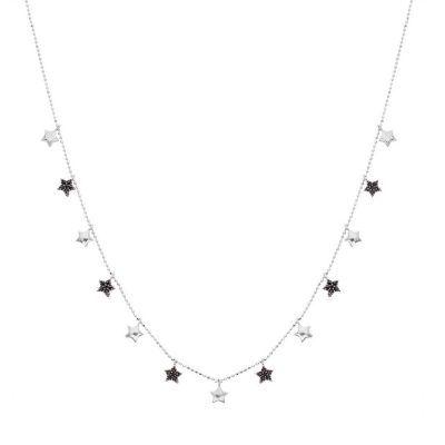 Joyas OnLine Plata de Ley 925 y Oro 18K. gargantilla colgante collar estrellas