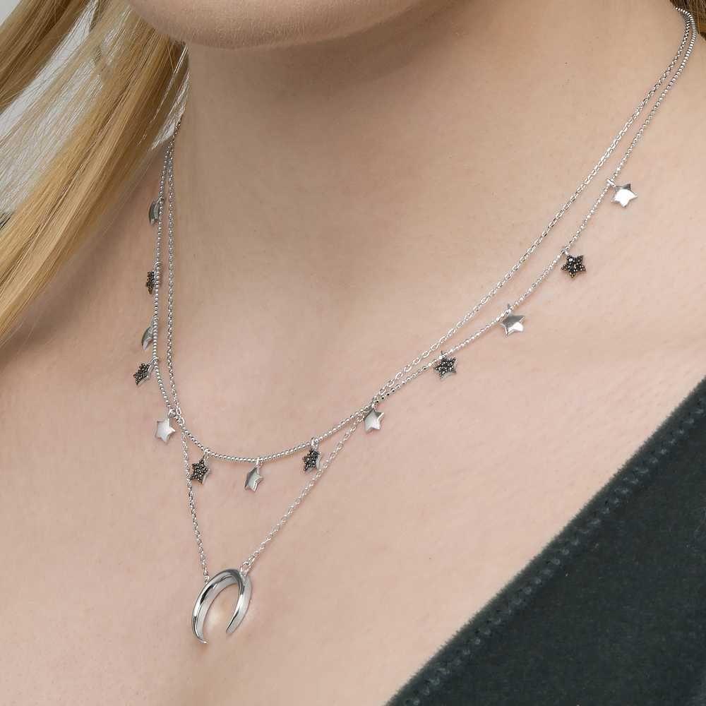 Joyas OnLine Plata de Ley 925 y Oro 18K. gargantilla colgante collar