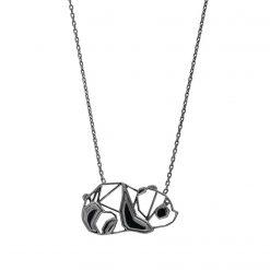 Joyas OnLine Plata de Ley 925 y Oro 18K. colgante gargantilla oso panda