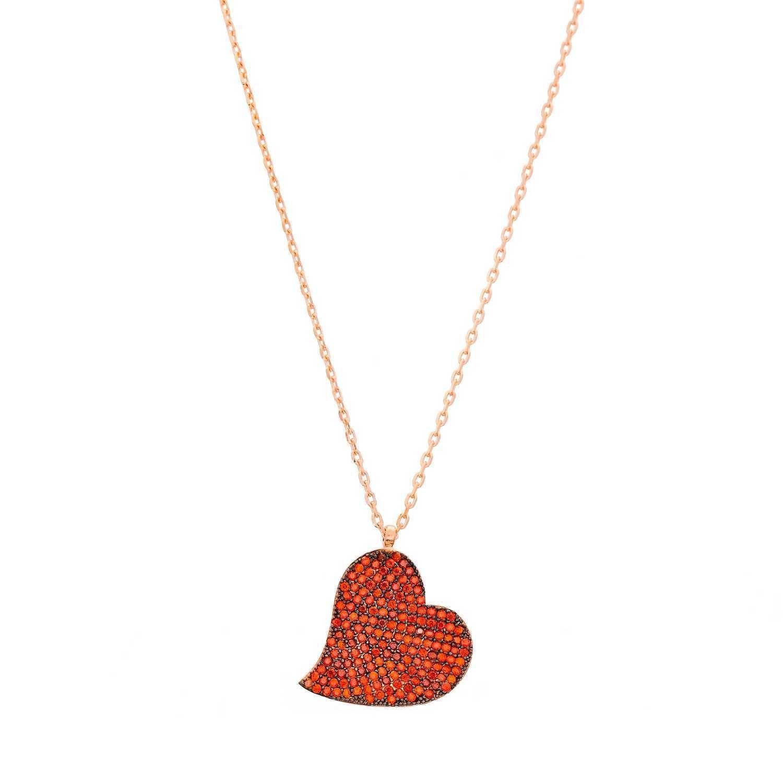 621727fb7b09 Joyas OnLine Plata de Ley 925 y Oro 18K. collar colgante corazon gargantilla
