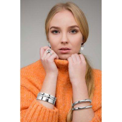 Joyas OnLine Plata de Ley 925 y Oro 18K. pendientes aros chapa cañas pulseras brazaletes rigidos anillo