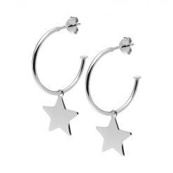 Joyas OnLine Plata de Ley 925 y Oro 18K. pendientes aros estrella