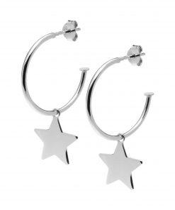 pendientes-aro-estrella-plata