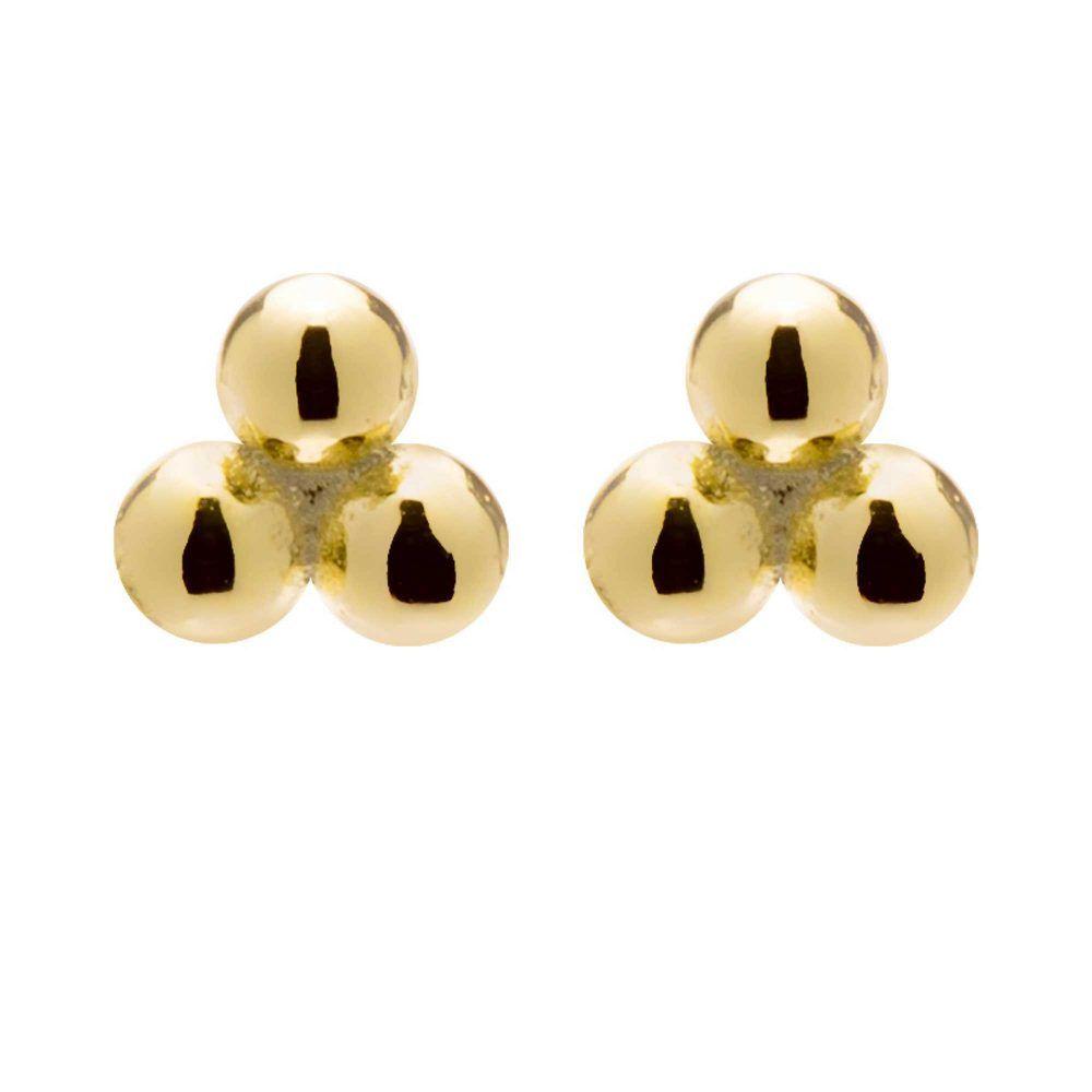 Joyas OnLine Plata de Ley 925 y Oro 18K. pendientes pequeños pegados boton minimal