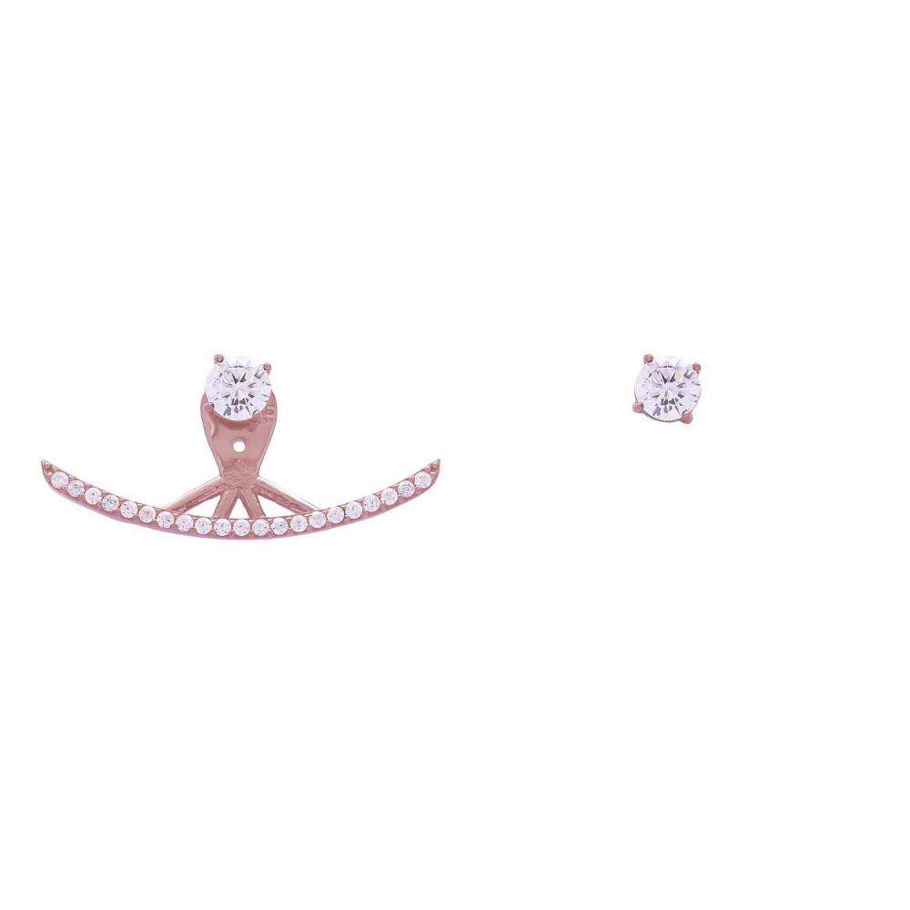 Joyas OnLine Plata de Ley 925 y Oro 18K. pendientes flotantes ear climbers