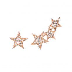 Pendientes de estrellas Pendientes trepadores plata Joyas de moda para mujer pendientes-trepadores-estrellas
