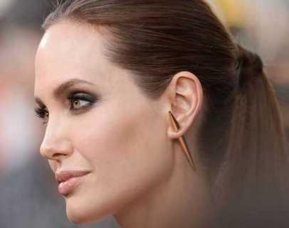 Angelina Jolie Joyas OnLine Plata de Ley 925 y Oro 18K. ear jacket