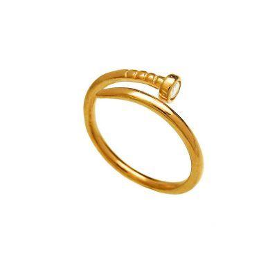 Joyas OnLine Plata de Ley 925 y Oro 18K. anillo clavo