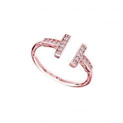 Joyas OnLine Plata de Ley 925 y Oro 18K. anillo oro rosa