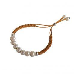 Joyas OnLine Plata de Ley 925 y Oro 18K. pulsera perlas cordón Cómo Limpiar una Pulsera de Cuero