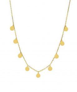 Collar chapitas Gargantilla colgantes Joyas baratas Plata de Ley 925 y Oro 18K. Marcas de joyas juveniles