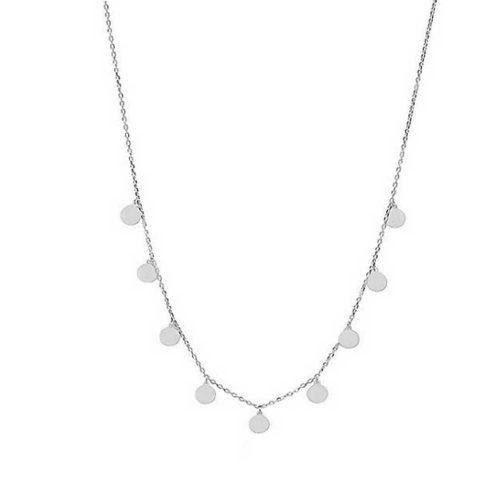 Collar chapitas plata collar con colgantes círculos redondos Gargantilla colgantes Joyas para mujer Plata y Oro