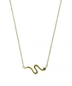 Collar serpiente Gargantilla colgantes Joyas baratas Plata de Ley 925 y Oro 18K. Marcas de joyas juveniles