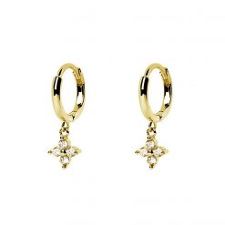 aro dulceida oro aros pequeños pendientes minimalistas con circonitas studs piercings pendientes de aro pequeñitos SUTILLE joyas para Mujer