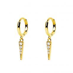 pendientes de aro Megan con colgantes aros pequeños pendiente suelto joyas de moda para mujer oro y plata SUTILLE