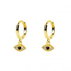 pendientes ojo nazar ojo turco pendientes de aro piercings joyas de moda plata de ley oro SUTILLE