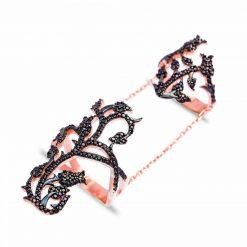 anillo doble rosa anillos góticos chunky jewels joyas originales SUTILLE