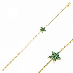 pulsera star verde oro pulseras de circonitas pulseras de cadena de eslabones oro y plata