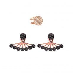 Set Dubai pendiente ear cuff full moon oro rosa pendientes ear jackets dark side oro rosa joyas SUTILLE para mujer