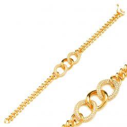 Pulsera Cartier Oro ESLABONES ORO LINKS CHAIN CUBANA. Pulsera para Mujer Joyas SUTILLE