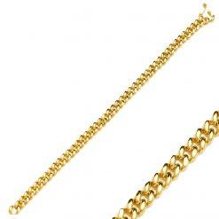 Pulsera Chain Oro eslabones pulsera cubana mujer links chain Joyas SUTILLE