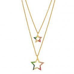 collar layering estrellas oro collares en cascada joyas para mujer SUTILLE