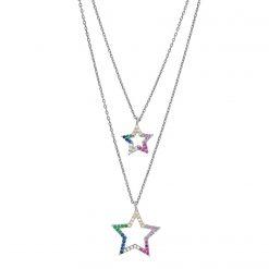 collar layering estrellas plata collares en cascada joyas para mujer SUTILLE